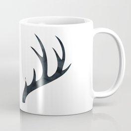 Antlers Black and White Coffee Mug