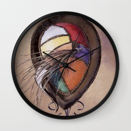 Color Festival — Vintage Hat Painting Wall Clock