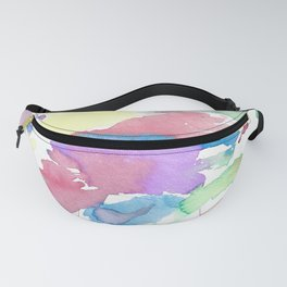 Multicolor watercolor Fanny Pack