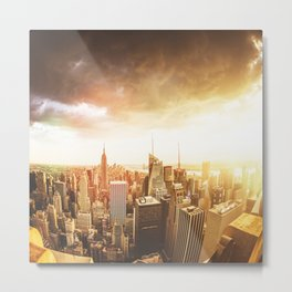 nyc skyline at dusk Metal Print