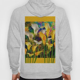 Golden Ivory Color Calla Lilies Golden Art Hoody