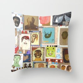 People That I Knew Throw Pillow