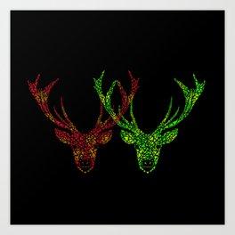 Love Deer  Art Print