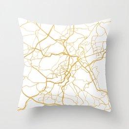 STUTTGART GERMANY CITY STREET MAP ART Throw Pillow