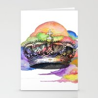 crown Stationery Cards featuring CROWN by MADEBYCHEJO