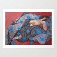 Bring me flowers while I can smell them Art Print