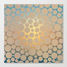 Pastel Polka Dots Canvas Print