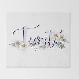 Twat Throw Blanket
