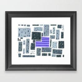 Derelict City, Lavender Field Framed Art Print