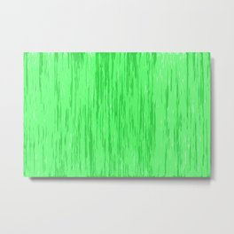 Fresh green fibers, abstract rainfall, natural colors, forest theme texture, pattern Metal Print