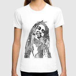 Bob Raggae - black and white T-shirt