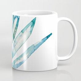 Blue Fern Leaf - Ink Painting - Botanical Coffee Mug