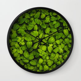 Lush (green leaves) Wall Clock