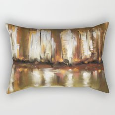 Brown City Rectangular Pillow