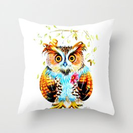 The most beautiful Owl Throw Pillow