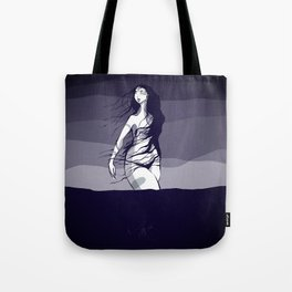 Woman in the ocean  Tote Bag