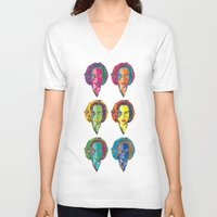 dana scully V-neck T-shirts featuring Scully by Sam Del Valle