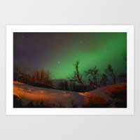 Norway lights 1 Art Print