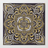 black and gold Canvas Prints featuring Black & Gold by Paula Savage