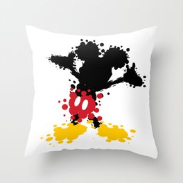 Mickey Mouse Paint Splat Magic Throw Pillow