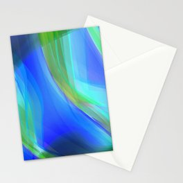 Gradient Abstration Blue Stationery Cards