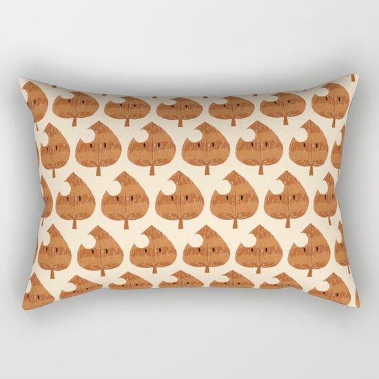 raccoon leaf pattern Rectangular Pillow