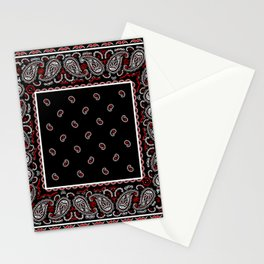 Wicked Black Bandana Stationery Cards