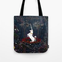 unicorn Tote Bags featuring Unicorn by Danse de Lune