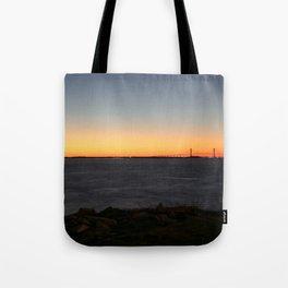 Jekyll Island Bridge at sunset Tote Bag