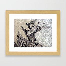 Three roads to go further Framed Art Print