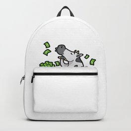 Cash Cow Rich Money Dollar Cash Hustle Manager Backpack