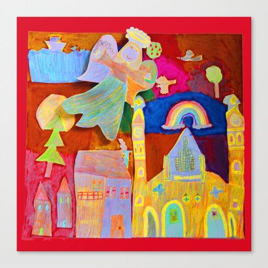Rainbow Angel Canvas Print