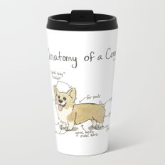 Anatomy of a Corgi Metal Travel Mug