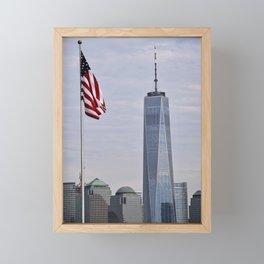 Freedom Symbol/Freedom Tower Framed Mini Art Print