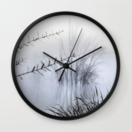 Lost in the foggy Mammoth Paradise Wall Clock