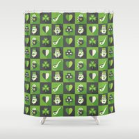 irish Shower Curtains featuring IRISH EYES ARE SMILING by Daisy Beatrice