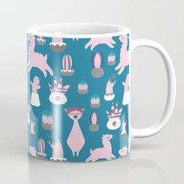 Alpaca fun teal Coffee Mug