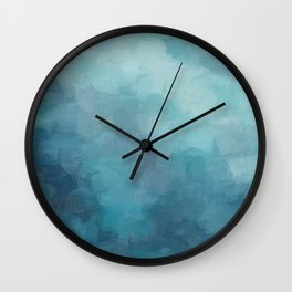 Mint, Aqua, Turquoise, Navy, Blue, Nautical Wall Art, Abstract Art Prints, Wall Decor, Abstract Painting, Modern Minimal Art Wall Clock