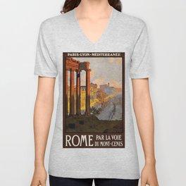 Vintage poster - Rome Unisex V-Neck