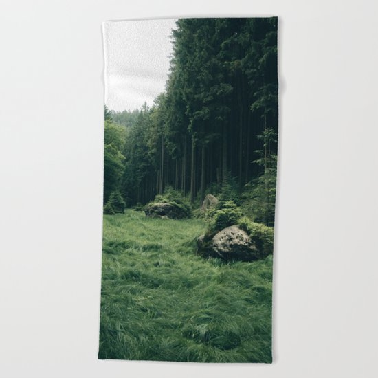 Forest Field - Landscape Photography Beach Towel