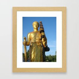 Dharma monk sivalee photos on respect in shirt Framed Art Print