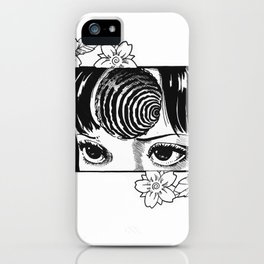 Junji Ito with cherry blossoms iPhone Case