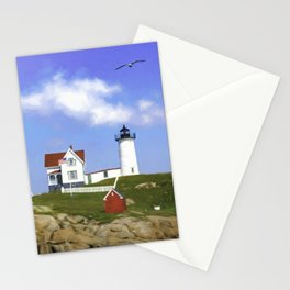 Nubble Light, York Beach, Maine Stationery Cards
