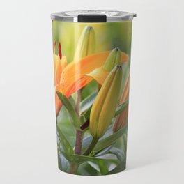 Orange Lily Travel Mug