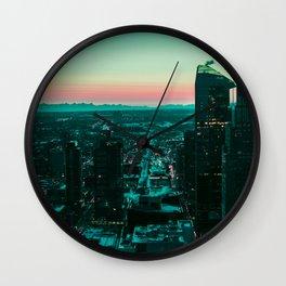 Binary Sunset Wall Clock
