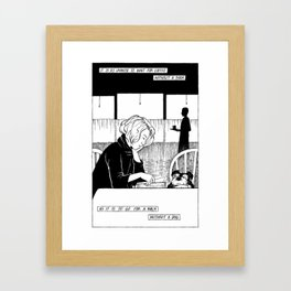 Dogs and Books Framed Art Print