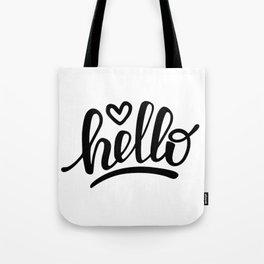 Hello brush lettering Tote Bag