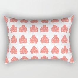 Salmon Asian Moods Buddha Boy Rectangular Pillow