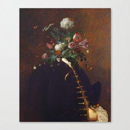 Flower Facade Canvas Print