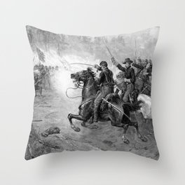 Union Cavalry Charge Throw Pillow
